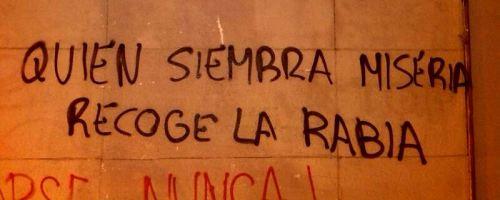 Graffiti en la calle Vitoria| Fuente: http://vozpopuli.com
