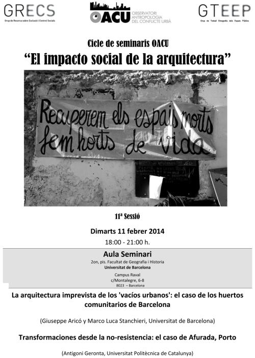 Seminari Arquitectura(11ªSessió). 11.02.14