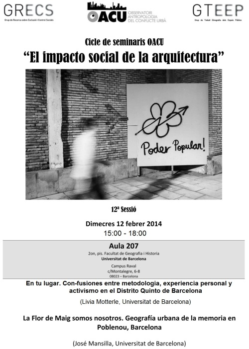 Seminari Arquitectura(12ªSessió). 12.02.14