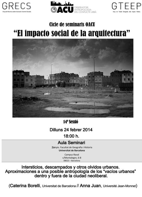 Seminari Arquitectura(14ªSessió). 24.2.14