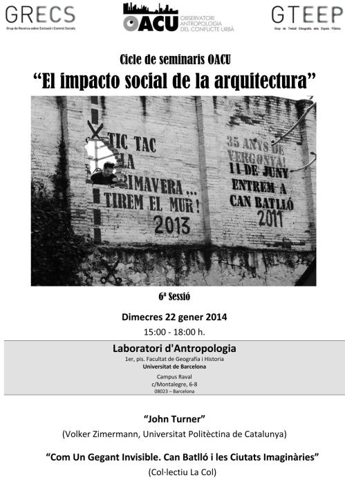 Seminari Arquitectura(6ªSessió). 22.1.14